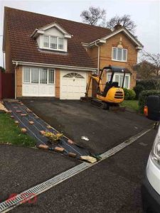 As Work Is Started on New Block Paving Surface