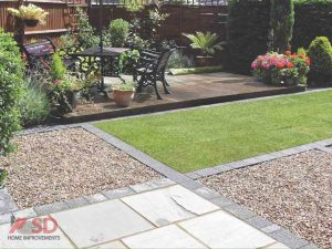 New Lawn, Gravel, Border Area and Seating Area