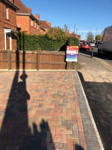 Driveway Paving With Dropped Kerb