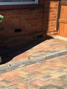 Driveway Paving WIth Drains