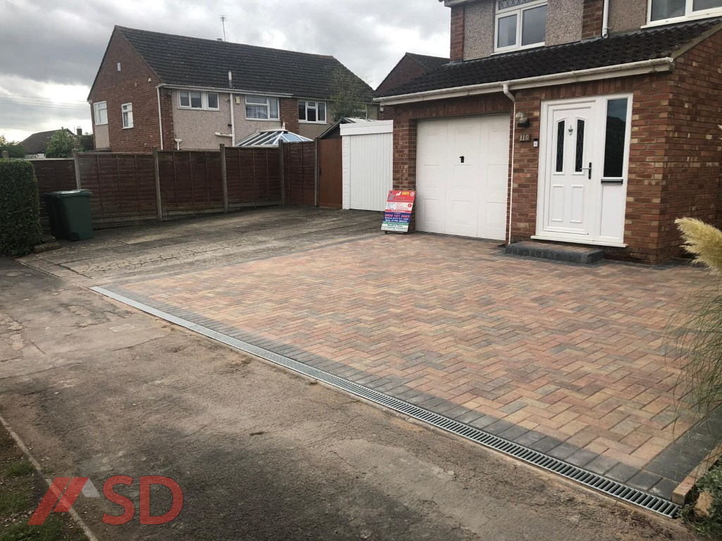 New Drive Installation With Block Paving