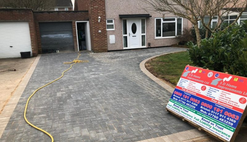 Charcoal Block Paving Driveway Installed in Yate, Bristol