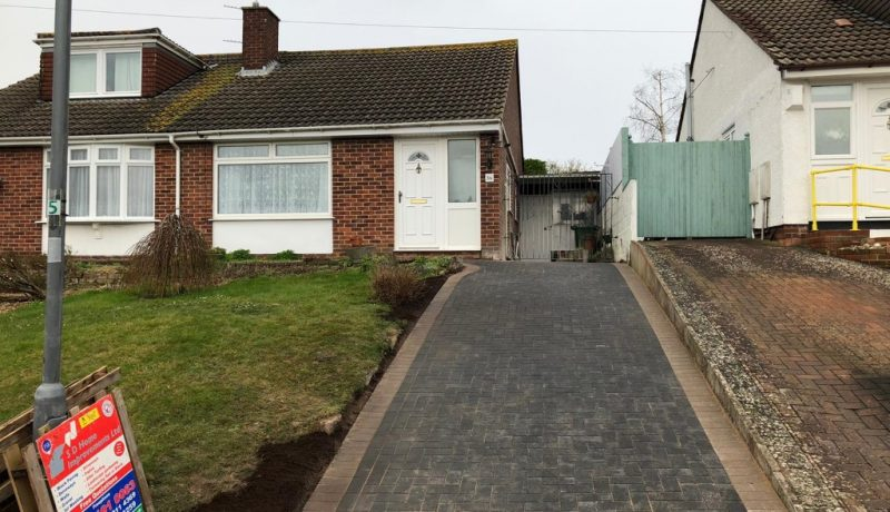Charcoal Block Paving Driveway in Longwell Green, Bristol