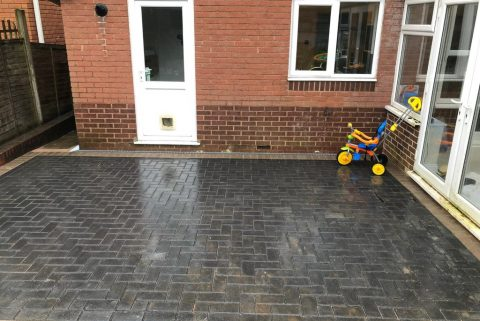 Charcoal Block Paving Patio in Bristol City