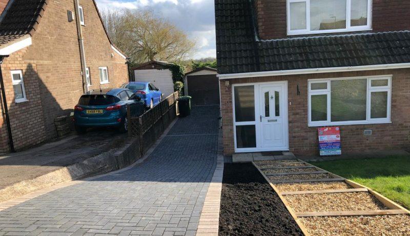 Grey Block Paving Driveway in Bradley Stoke