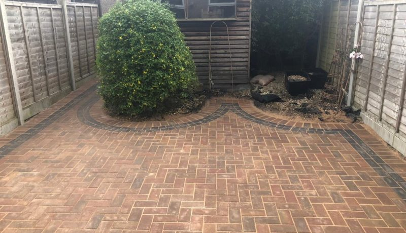 Autumn Gold Paved Patio in Bristol City