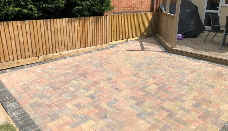 Brindle Block Paving Patio in Bristol