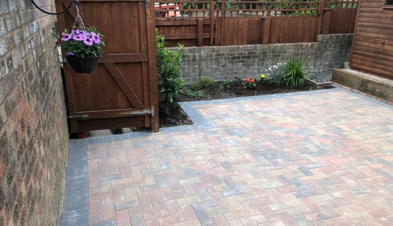 Brindle Paved Patio in Bradley Stoke