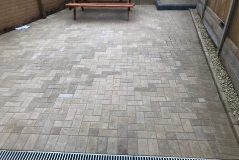 Block Paving Patio with New Drains in Bristol