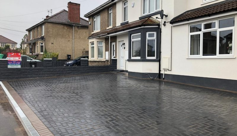 Charcoal Block Paving Driveway in Bristol City