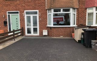 Charcoal Block Paving Driveway with Light Grey Border in Bristol