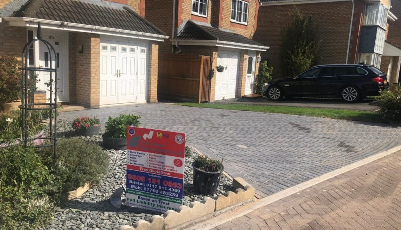 Dark Grey Block Paving Driveway in Yate, Bristol