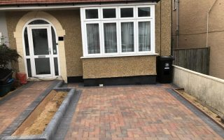 Block Paving Driveway with Flower-beds in Bradley Stoke
