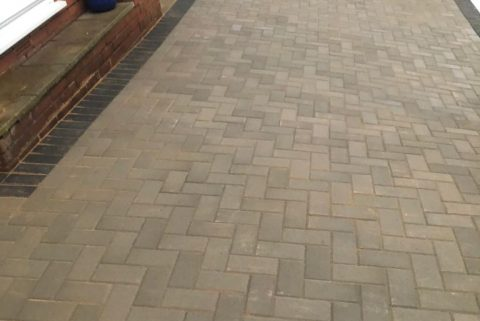 Block Paving Driveway with Charcoal Border in Bradley Stoke