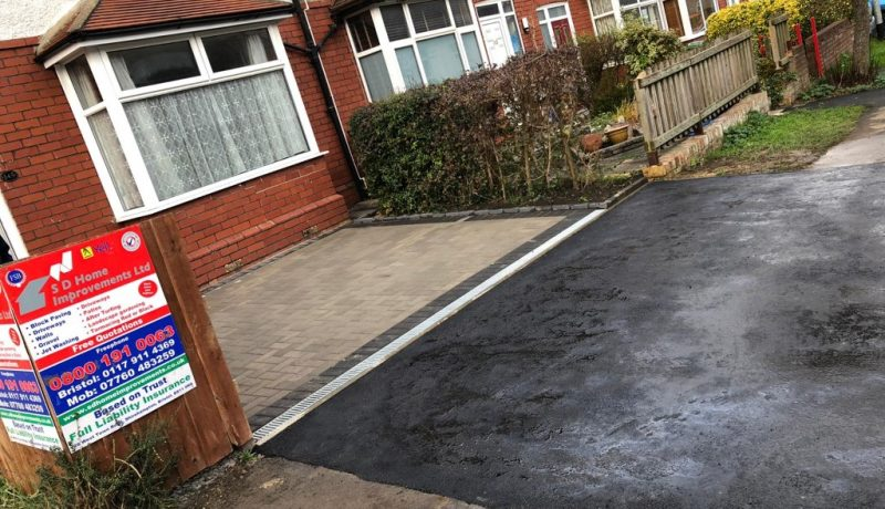 Block Paving Driveway with Tarmac Apron in Bristol City