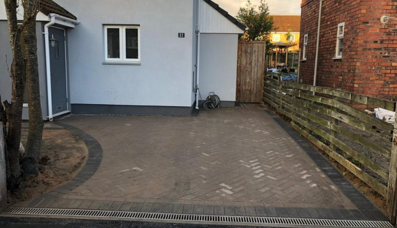 Block Paving Driveway with Double Charcoal Border in Bristol