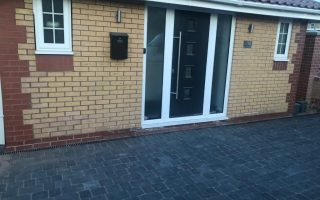 Charcoal Grey Tegula Paved Driveway in Bradley Stoke