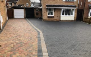 Charcoal and Natural Grey Block Paving Driveway in Bristol