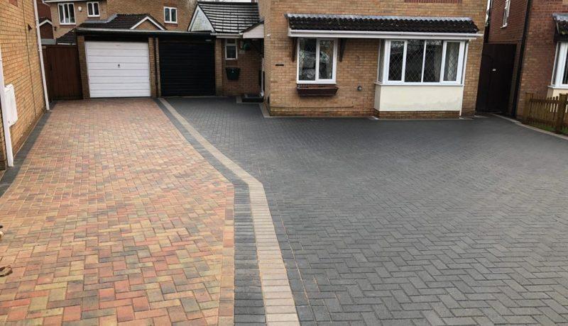 Charcoal and Natural Grey Block Paving Driveway in Bristol