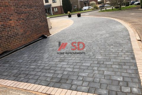 Charcoal Tegula Paved Driveway in Yate