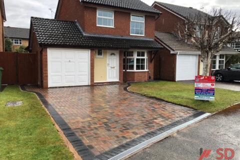 Brindle and Charcoal Block Paved Driveway in Yate, Bristol
