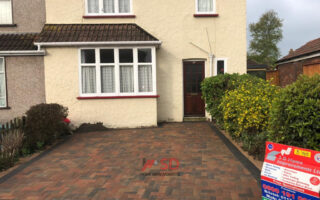 New Brindle and Charcoal Block Paved Driveway in Horfield, Bristol