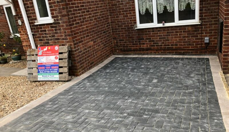 New Charcoal Block Paved Driveway in Yate, Bristol