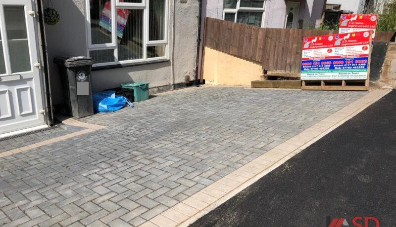 Block Paved Driveway with Tarmac Apron in Bradley Stoke