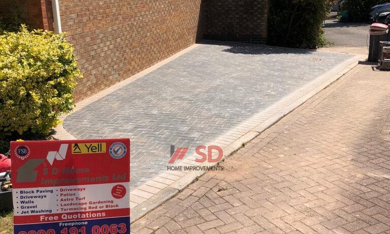 Block Paved Driveway Extension in Bradley Stoke