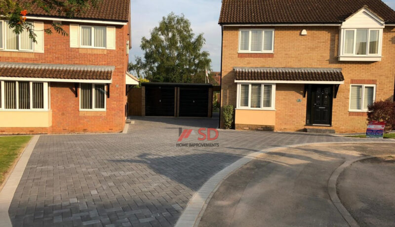 Charcoal Block Paved Driveway in Bristol