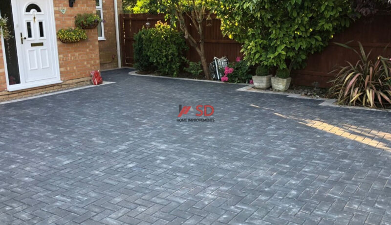 Charcoal Block Paved Driveway in Downend, Bristol