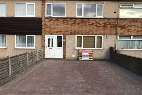 Block Paved Driveway with Double and Single Charcoal Border in Yate