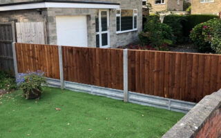 New Fence with Concrete Posts and Gravel Boards in Downend, Bristol